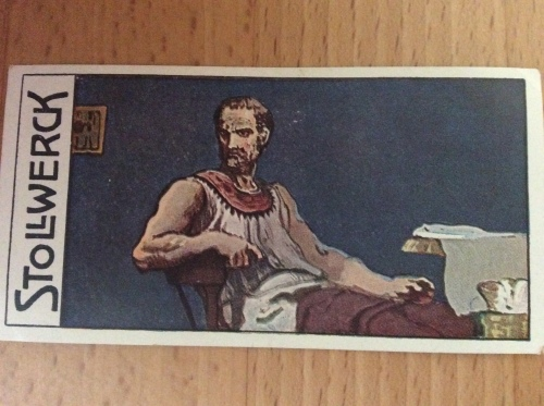 Portrait of Thucydides, on a Stollwerck card